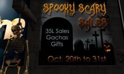 Spooky Scary Sales & Gachas