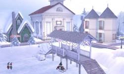 The North Pole's Snowy Village