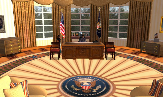 Virtual Oval Office Second Life