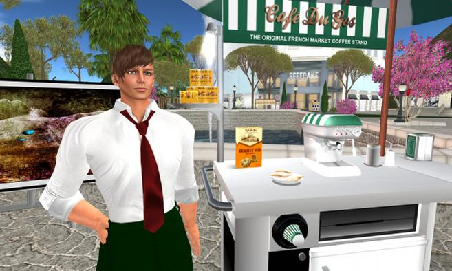 The adult sim is laid out around a central plaza, where sunny afternoons can ...