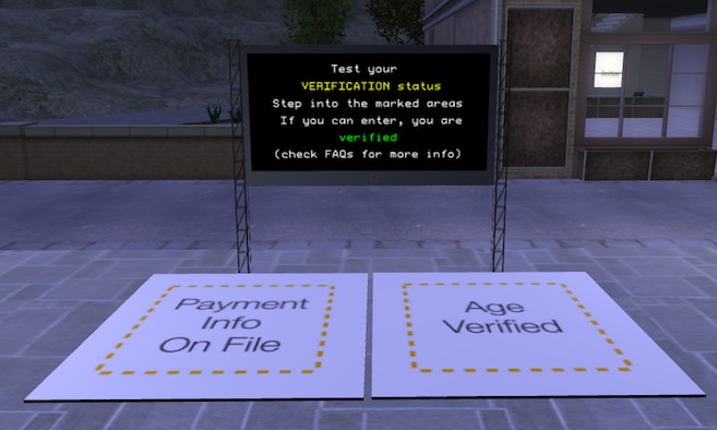Age Verification Info and Test Zone