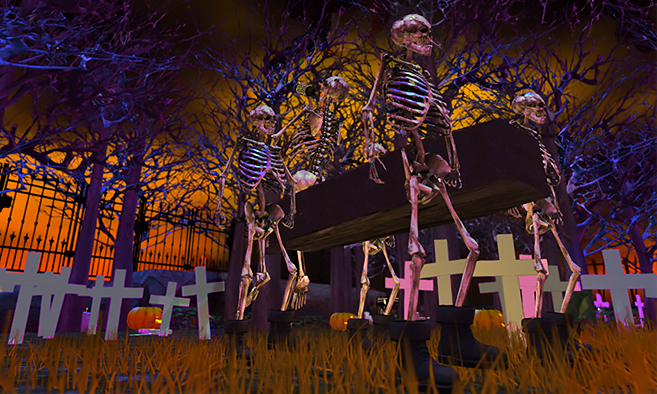Skeleton House - Halloween Store