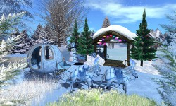 Chilbo Ice Skate Rink And Winter Forest