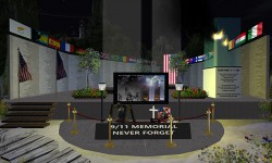 9/11 Memorial at Atlantis